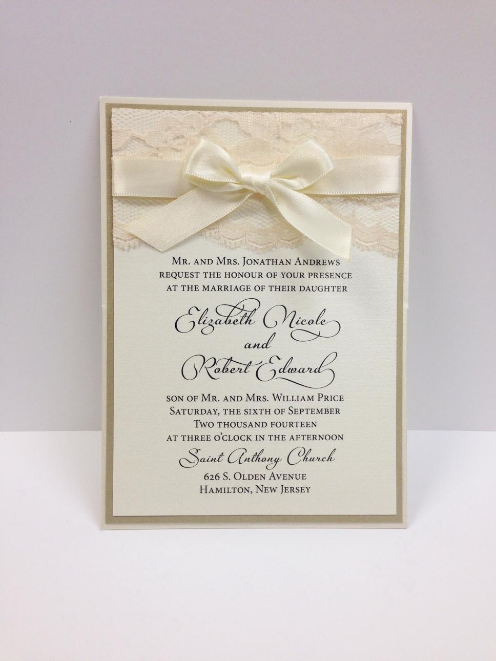 wedding invitation bows | Wedding